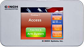 CINCH LCD Color Touch Screen Controls for Intrusion Detection Systems